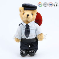 Alibaba wholesale soft bear with UK soldier clothes,soldier toys in first rate