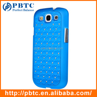 Light Blue Hard Plastic Diamond Bling Case With Screen protector &Stylus For Samsung Galaxy S3 I9300