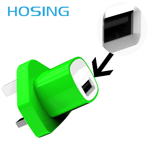 Color usb charger for iphone 3g/3gs/4g wall mount adapter