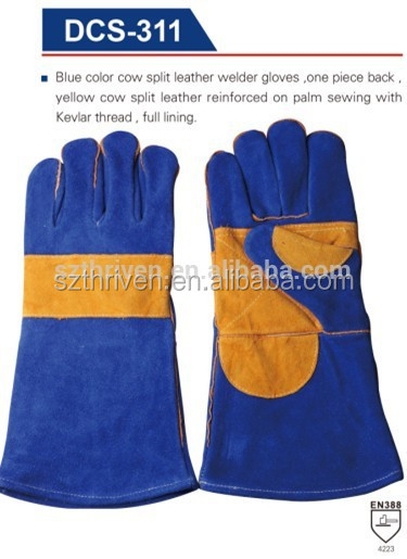 Elbow Length Cow Split Leather Welder Working Gloves