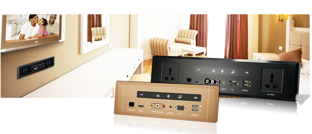 a single cable connection new intelligent cec supported hotel wall panel