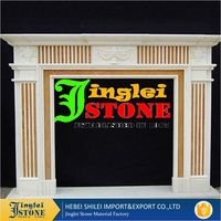 Hand Curved Artificial Marble Stone Fireplace Hearth Fireplace Mantel
