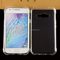 Cell phone accessory ultra thin transparent clear tpu gel silicone back cover case for samsung galaxy j1 ace factory price