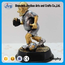 Silver Gold football figures trophy Creative resin decoration Wholesale of Arts and crafts