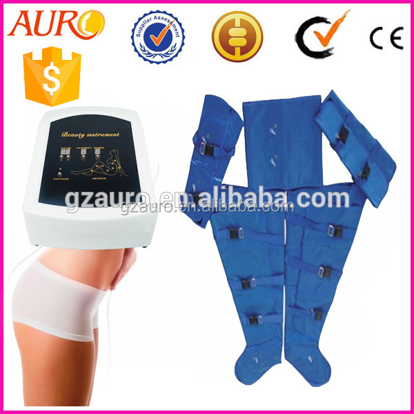 Au-7007 ALIBABA HOT!!! pressotherapy lymphatic drainage system air pressure leg massage machine