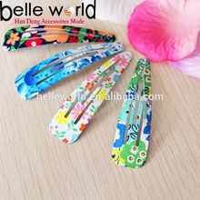 Metal Flower Paint Snap Hair Clips for woman