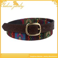 2014 New Design Western Leather Embroidery Belt Blanks