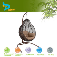 Partner New Popular Hottest Eco Friendly PE Birdcage Knoll Rattan Egg Oval Shaped Chair
