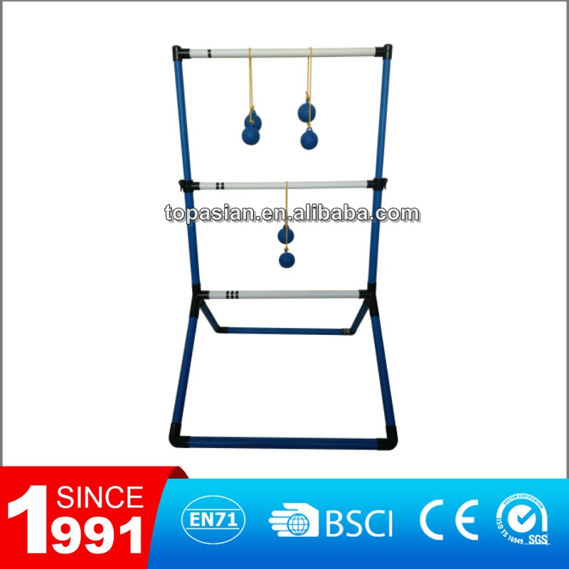 Plastic ladder ball lawn toss golf game set