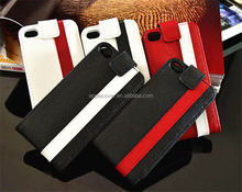 Couple Color Genuine Leather Flip case for iPhone 4/4S apple phone