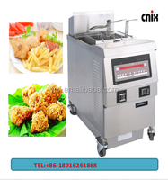 cnix gas chicken open deep fryer with computer control panel