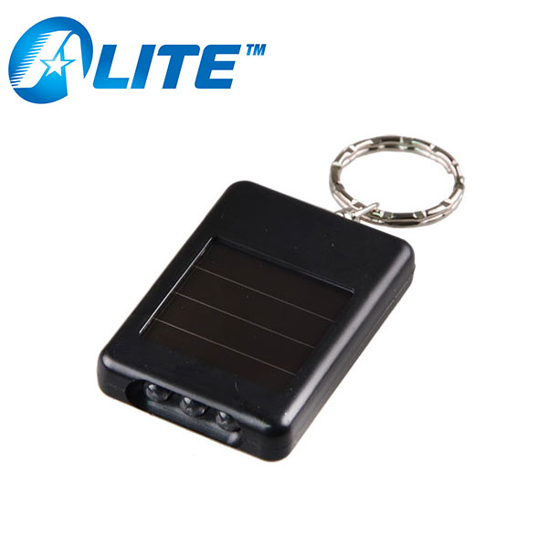 Wholesale 3 LED Rechargeable Light Advertising Solar Key Chain