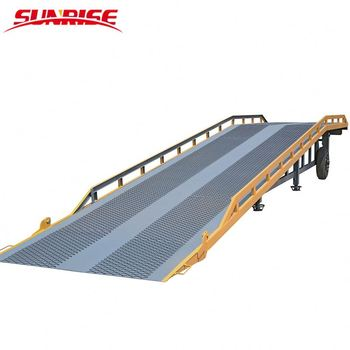 10 ton loading dock ramps mobile loading yard ramp container load ramp for South Korea