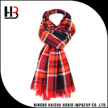 Scottish style winter thick wool scarf for men