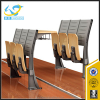School Furniture Used High School Classroom Single Set High quality Desk with attached Chair