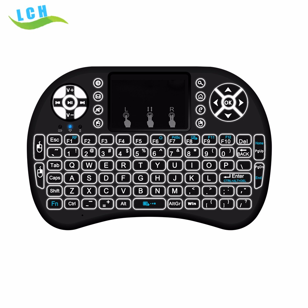 mini i8 keyboard backlight 2.4g backlit wireless keyboard controller air mouse for android tv box