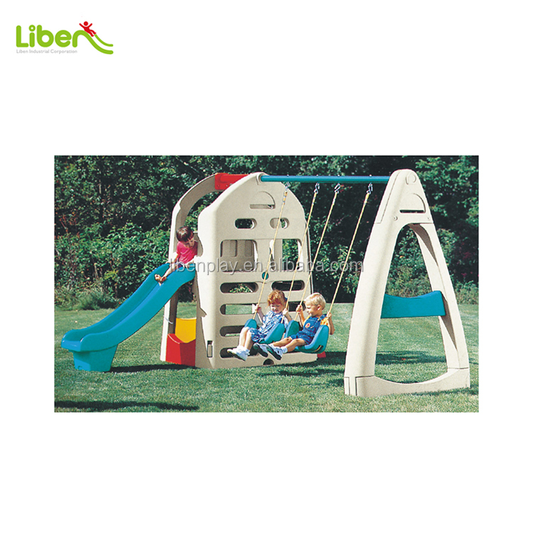 2014 HOTSALE Large Indoor Plastic Kids slides with swing for garden, mulit functions slide and GOOD quality LE.HT.031