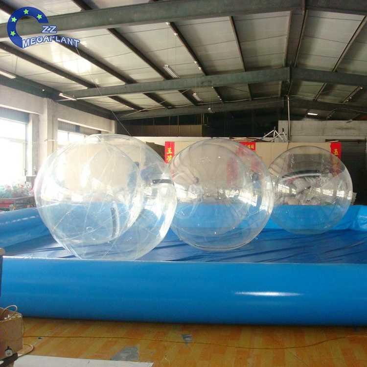 summer water park absorbing game pvc hamster walking ball for kinds games