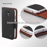 Mobile Phone Accessories wallet flip case for s4 mini pu leather case for galaxy s4