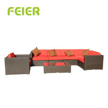 A6073SF Hand Made Sofas Bedroom Furniture Rattan Wicker Single Sofa Ottoman