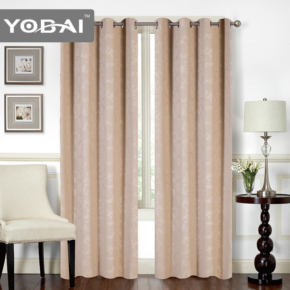 100% Polyester Embossed Curtain Design New Model
