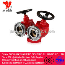 Double body&double outlet pressure reducing/stablizing indoor fire hydrant