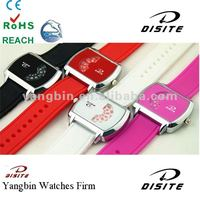 Fashion Silicone Wrist Watch Ladies With Chargeable Bracelet