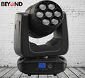 7x25W Professional stage lighting rgbwa uv lemon 7-in-1 led moving head lights for sale