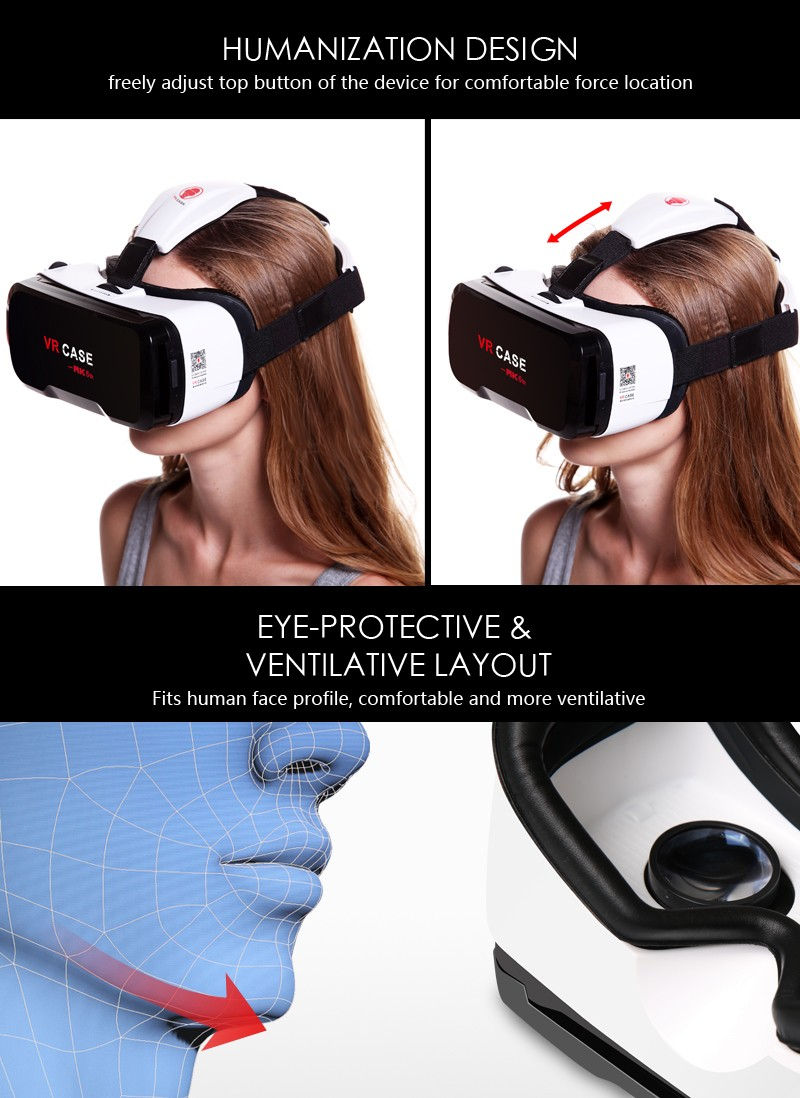 New version all in one vr with multifuncational bluetooth remote vr shinecon VR CASE 6th