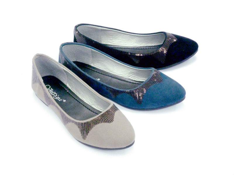 elegant classsic ladies flat shoes with sequins