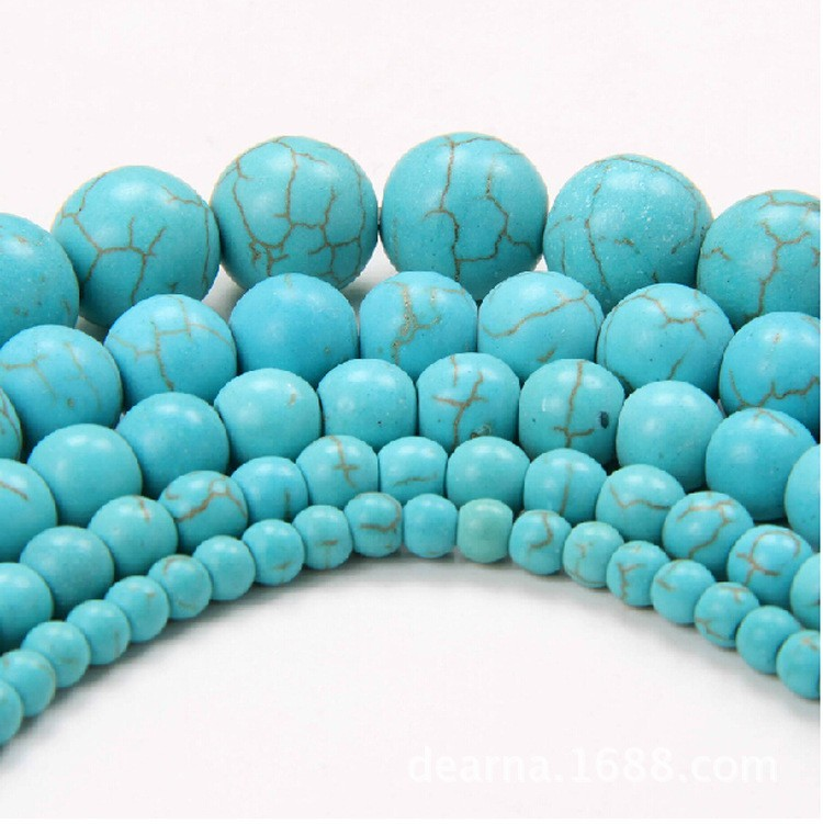 2016 wholesale 16inch per strand White/red/blue/green/pink Turquoise beads Round Beads 6 8 10 12 14mm