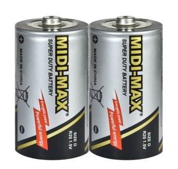 High capacity Midi-max D/R20 battery