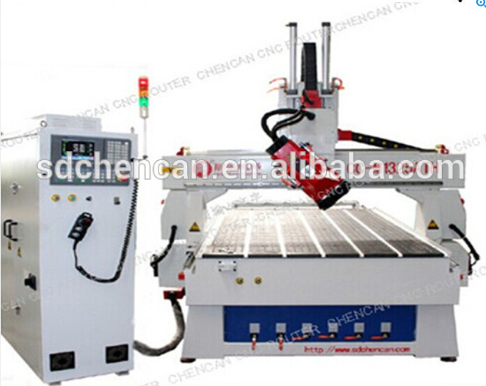 China 4 axis atc cnc router machine with rotating spindle, +/-90degrees