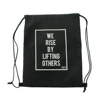 Polyester Cotton Nylon Canvas Drawstring Bag With Your Logo