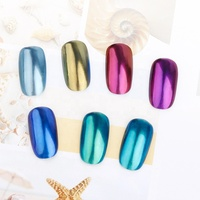 Pinpai Brand Shimmer Mermaid Pearl Nail Powder Shining Shell Powder Nail Glitter Pigment Dust Manicure Nail Decoration