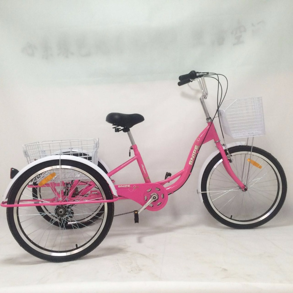 three wheel bicycle for adults tricycle with suitcase TR012