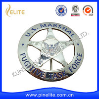 die cut US marshal badge