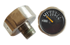 High Quality chrome-plated brass 1inch 23mm 25mm high low pressure gauges with bourdon tube