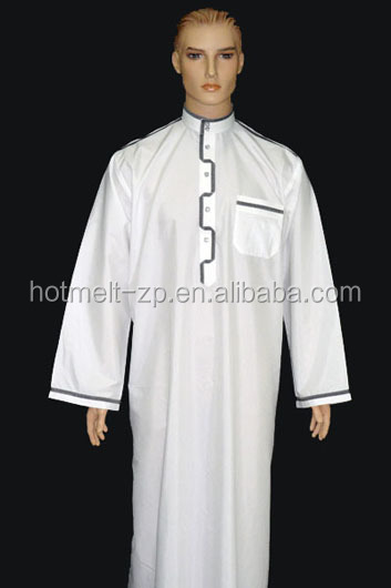 two layers T/C Arabian robe interlining with one side gule for cuff