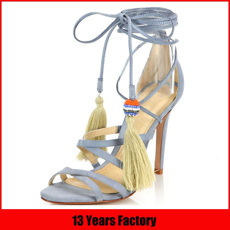 shoe manufacturer classic high heel lady sandal with diamond
