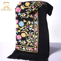 High-grade cashmere shawl wholesale manufacturers embroidery female national wind wool embroidered pashmina scarves shawls