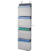 Non woven fabric Hanging Wall Pocket Organizer Storage Over the Door 5 Pockets