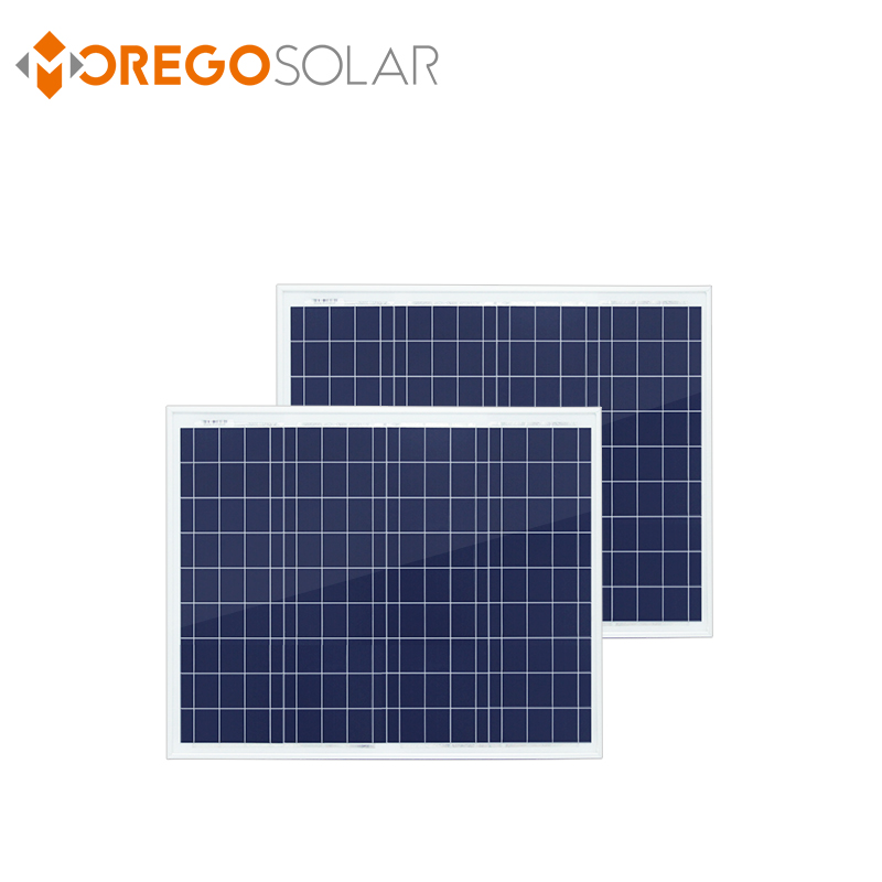 Moregosolar a grade 5BB solar cell 12v 50w 55w poly solar panel for home use ML series