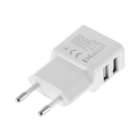 2A Dual 2 Ports USB EU Wall Charger Adapter for Samsung for iPhone for HTC for MOTO Perfect promotion