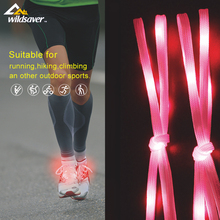 Night sport high flashing led elastic shoe laces funny lace