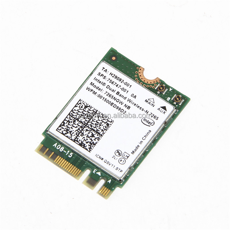 Intel Wireless-N 7265 802.11bgn, 2x2, 2.4G/5GHz Wi-Fi NGFF (M.2)Wlan Adapter 300Mbps Network Card
