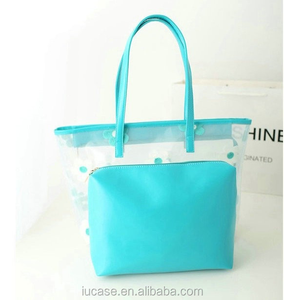 Hot sale clip tote bag for ladies