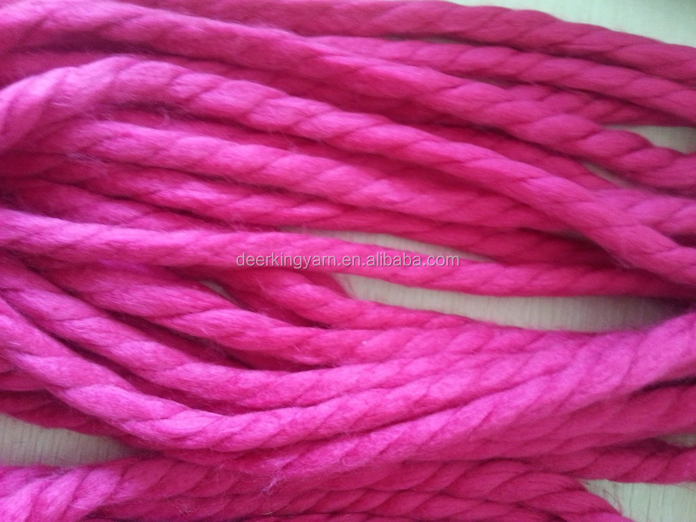 Thick merino wool yarn 100 % merino wool yarn loopy mango