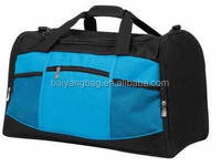 Travel duffel bag with water bottle holder