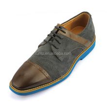 Wholesale handmade new man suede shoes in China men's genuine leather real animal leather flat dress shoes